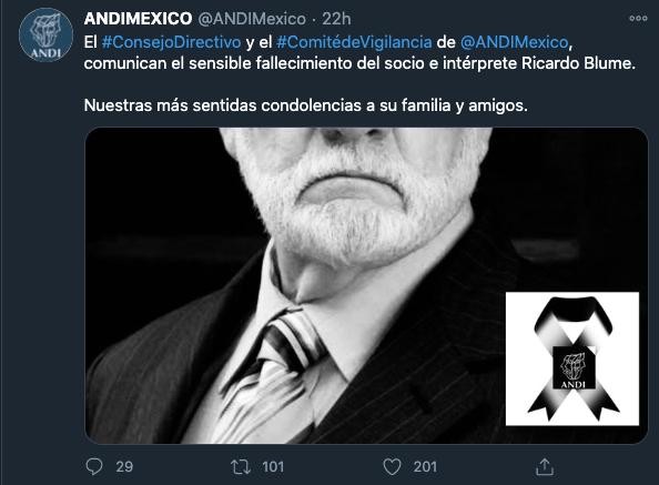 Fallece el actor Ricardo Blume a sus 87 años