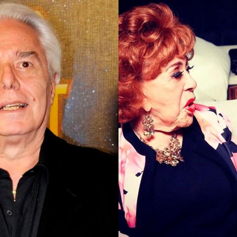 Enrique Guzmán y su hijo con Silvia Pinal