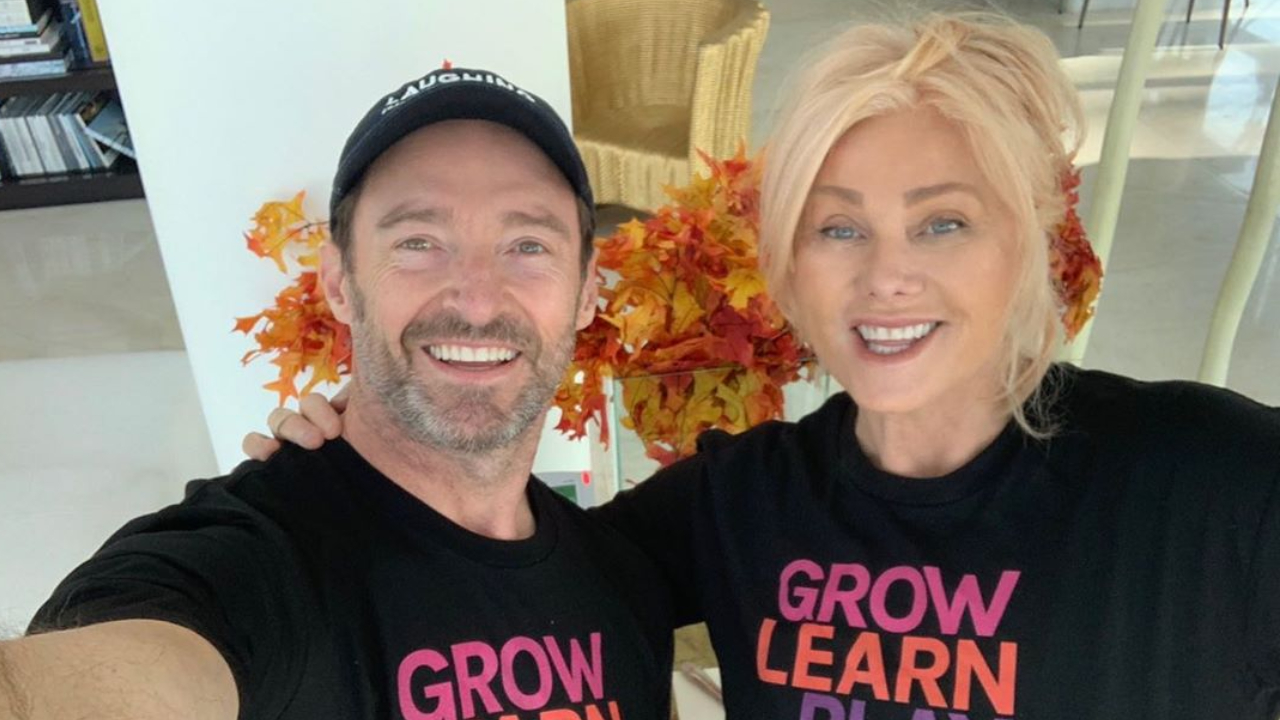 Hugh Jackman y su esposa Deborra-Lee
