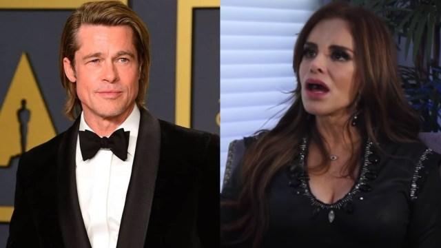 Lucía Méndez y Brad Pitt