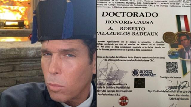 Roberto Palazuelos presume en redes sociales su Doctorado Honoris Causa