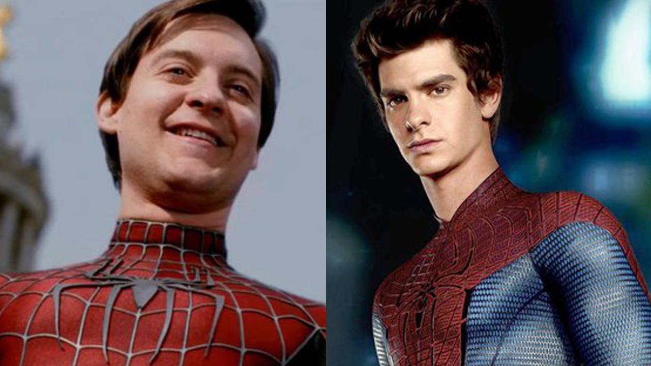 Tobey Maguire y Andrew Garfield en Spiderman