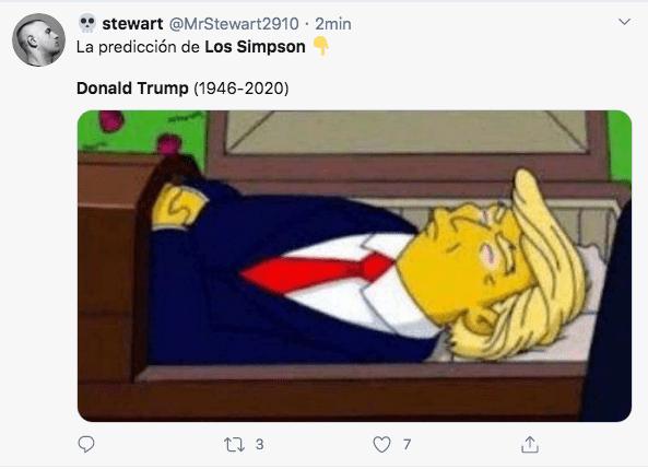 Imagen del Donald Trump en Los Simpson