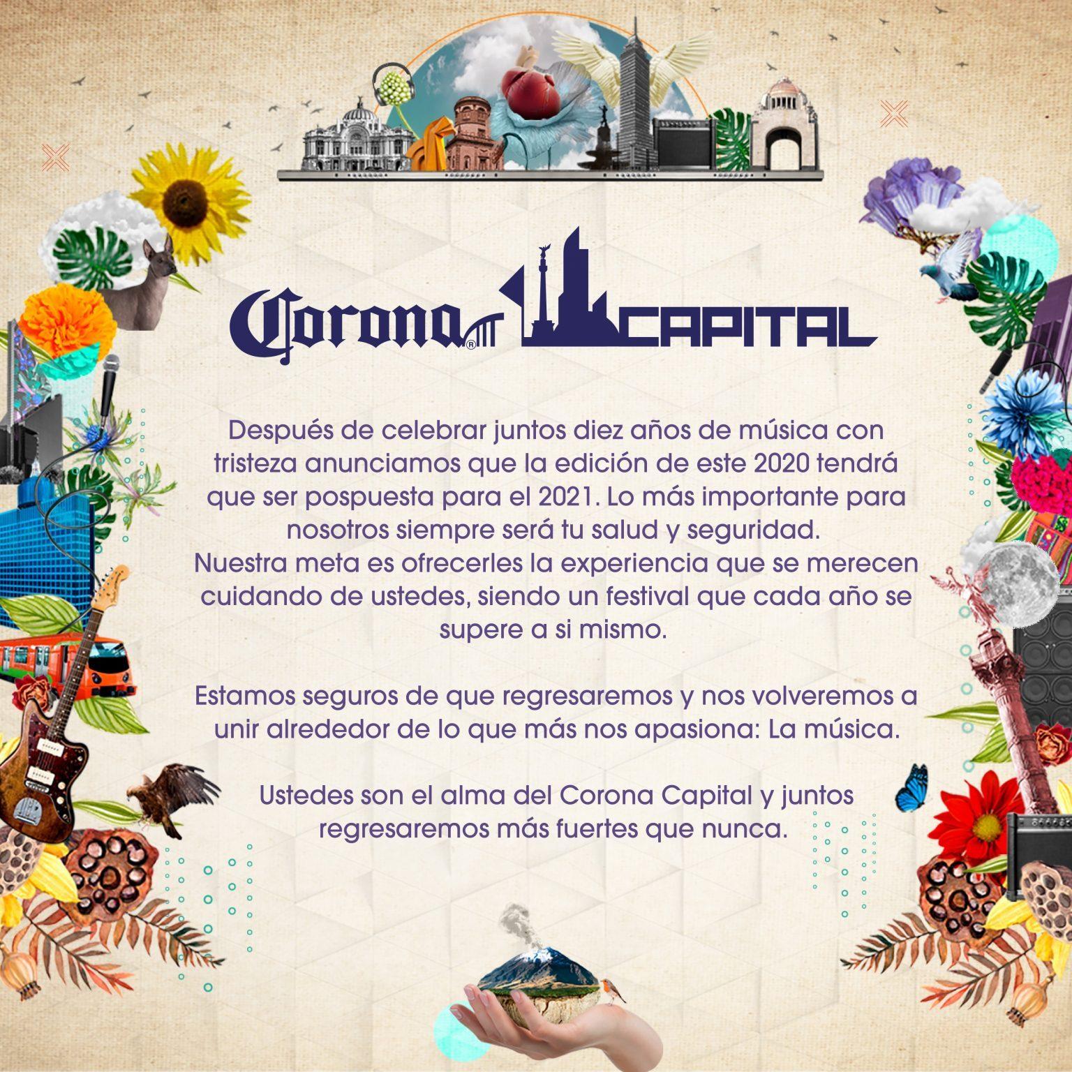 Comunicado Corona Capital