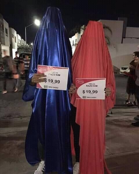 Disfraz pareja telas