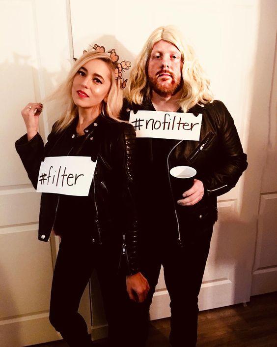 Disfraz pareja filtro de Instagram