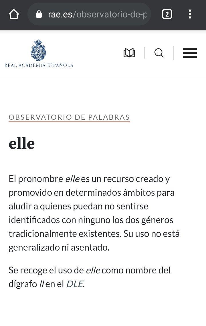 """RAE incluye """"Elle"""" en su observatorio de palabras"""