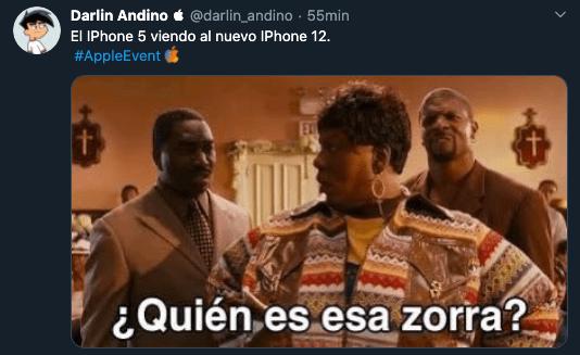 Meme iPhone 12 que parece 5