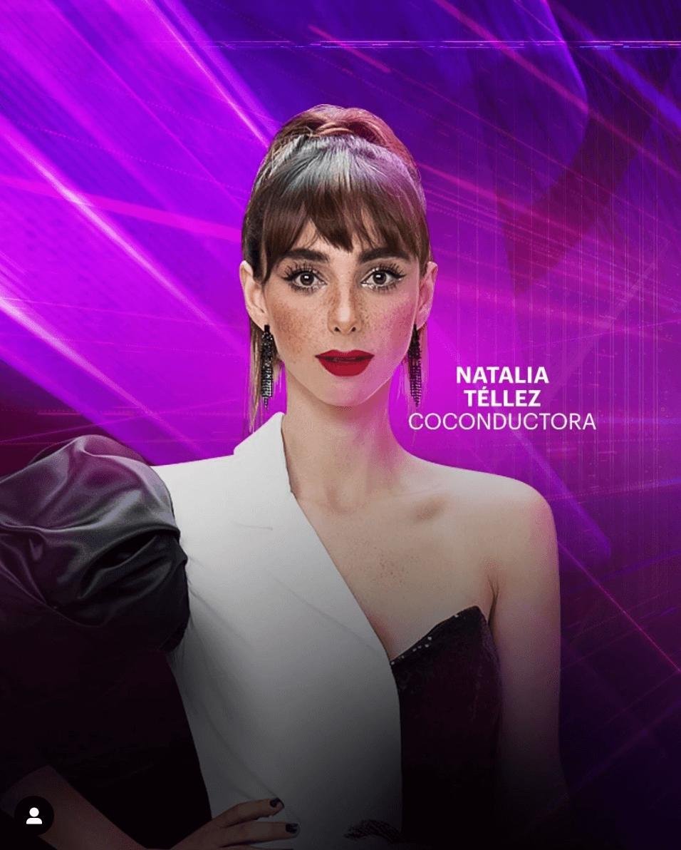 Natalia Téllez en Quién Es La Máscara como coconductora