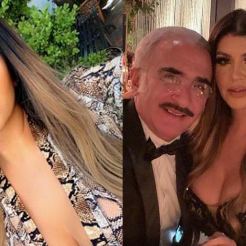 Novia de Vicente Fernández explota contra quien la critica por sus cirugías