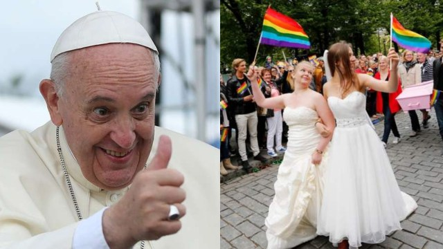 Papa Francisco da su apoyo al matrimonio igualitario