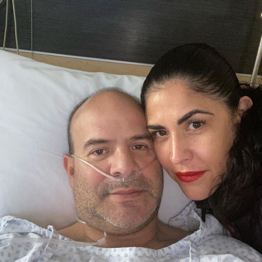 Platanito y esposa