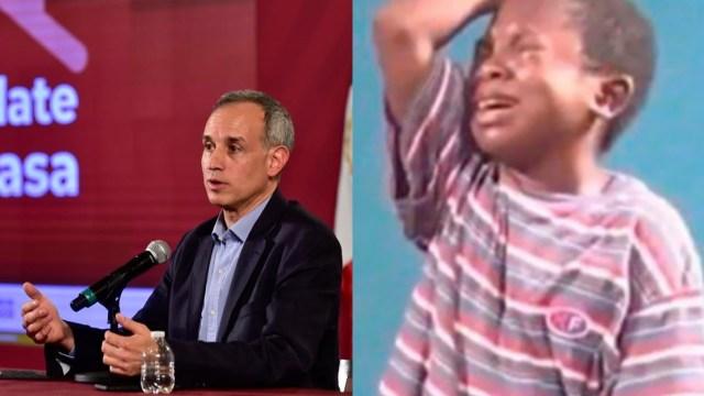 Lopez Gatell covid-19 meme niño llorando