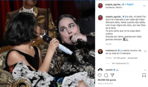 Mensaje Angela Aguilar para Flor Silvestre