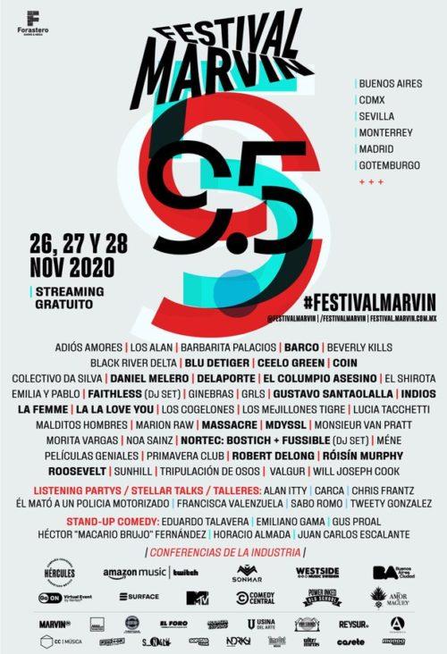 Cartel completo festival marvin 2020