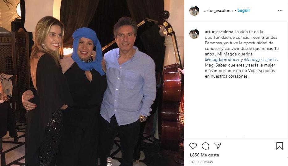 Arturo Escalona despide a su ex Magda Rodriguez