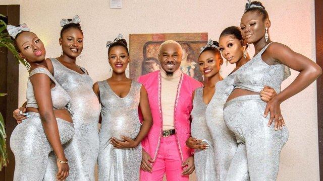 Pretty Like of Magos con sus seis novia embarazadas