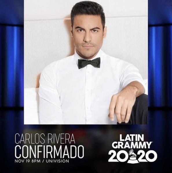 Carlos Rivera no estará en los Latin Grammy por motivos de salud