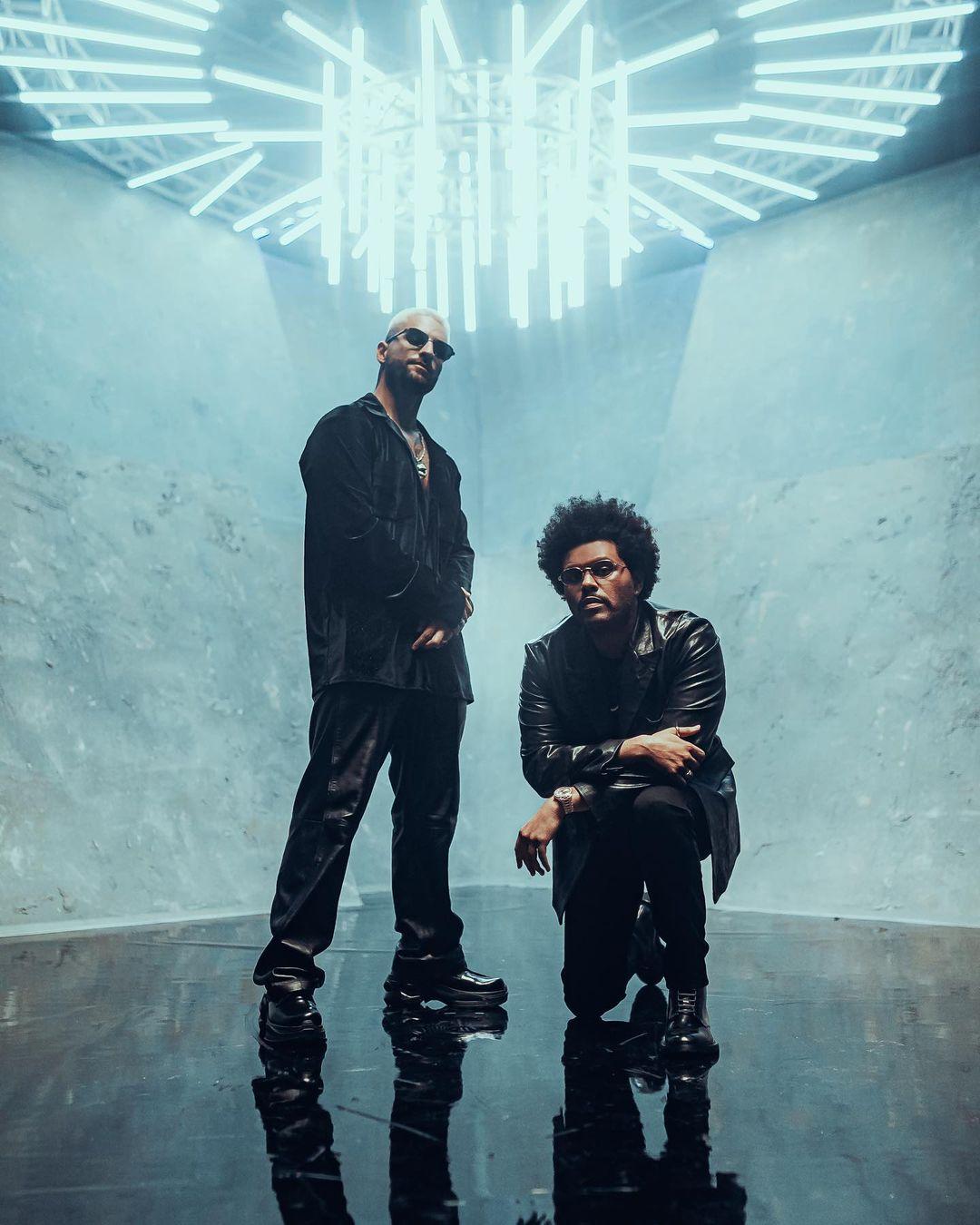 Maluma y The Weeknd levantan sospechas de colaboracion