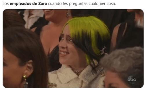 Meme caras empleados de Zara