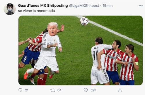 Meme remontada Trump Joe Biden