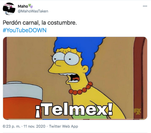 Meme Marge telmex Youtube