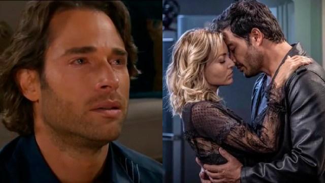 Sebastián Rulli llorando por celos de Angelique Boyer y Andrés Palacios besándose