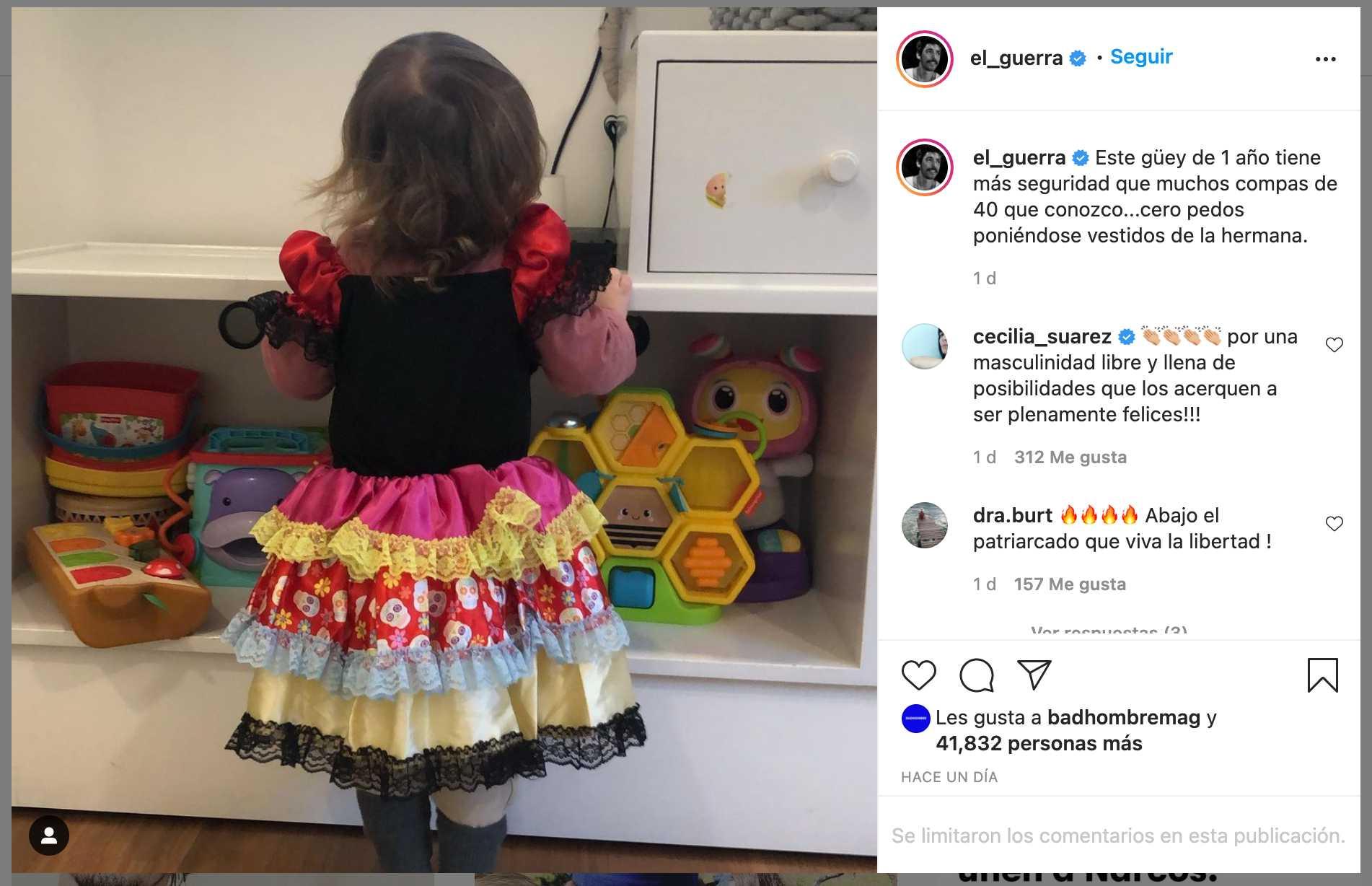 Alberto Guerra presume vestido de su hijo Luka
