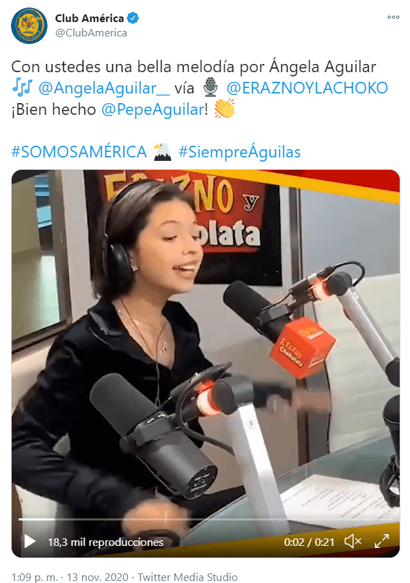 Ángela Aguilar canta el himno del América y la critican