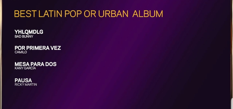 Bad Bunny y su nominación a los Grammys 2021