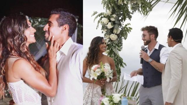 Así fue la boda de Zudikey y Pato Araujo en Exatlón