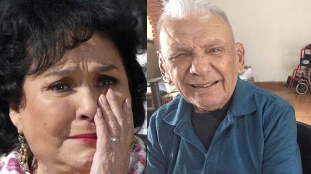 Carmelita Salinas llora tras la muerte de su hermano por Covid-19