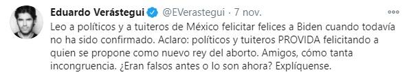 Eduardo Verástegui tweet vs Biden