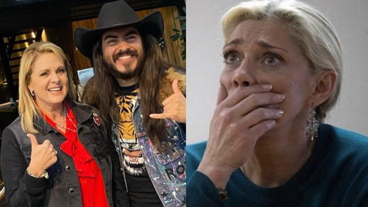Erika Buenfil con Rey Grupero y Cynthia Klitbo llorando