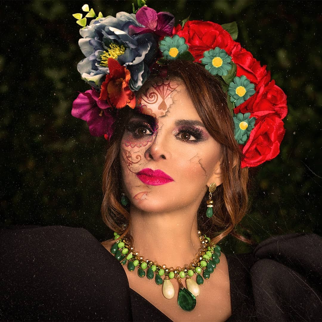 Lucía Méndez catrina