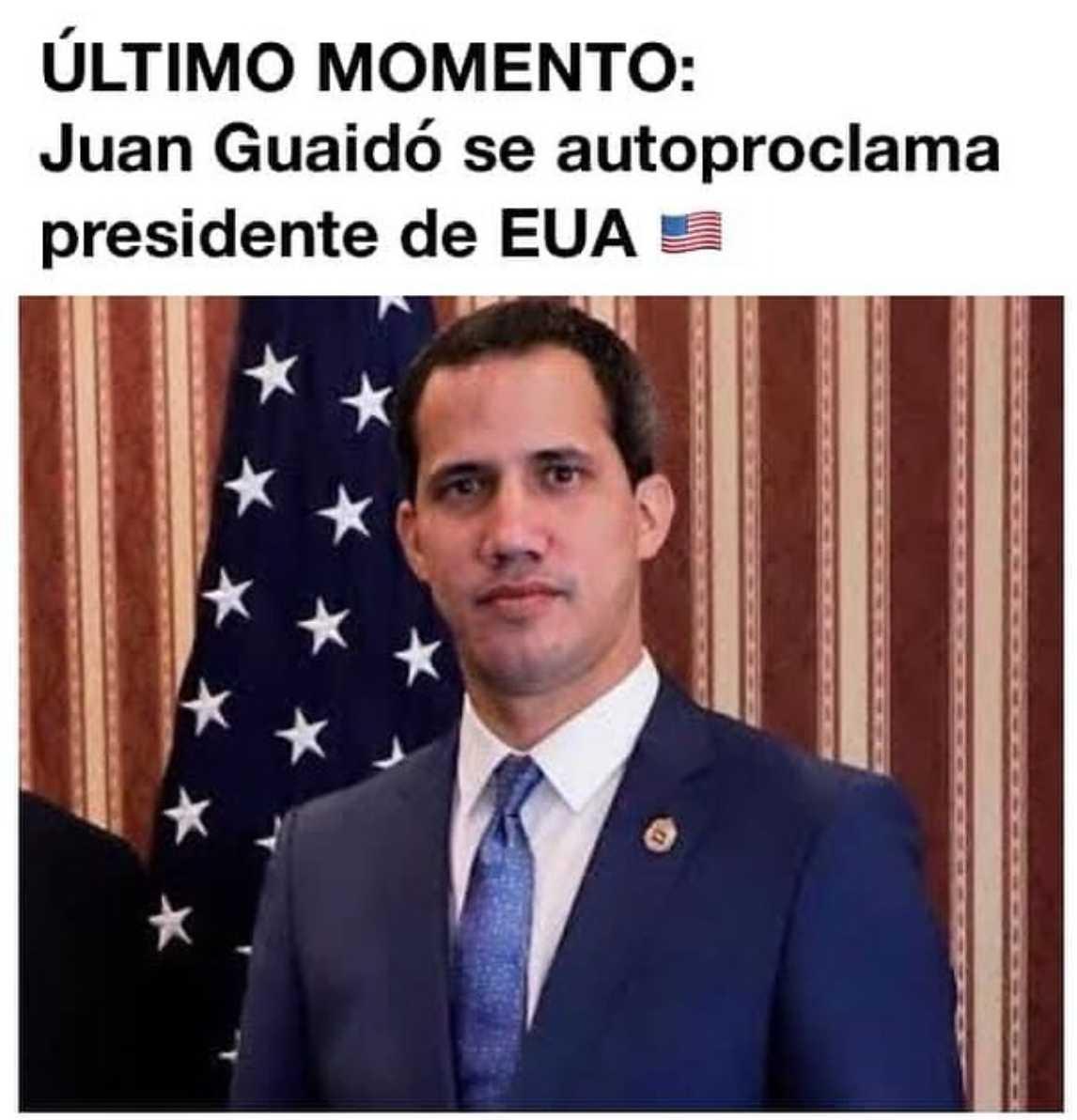 Meme de Juan Guaidó en las elecciones de Estados Unidos 2020