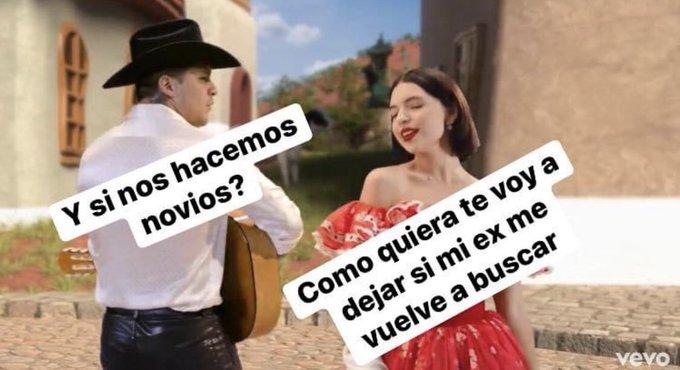 Memes de la canción de Christian Nodal y Ángela Aguilar