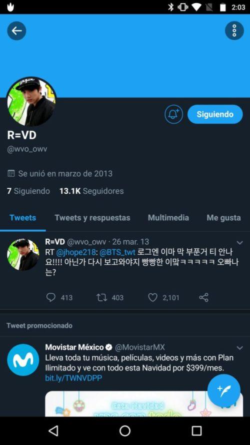 Twitter de Jungkook
