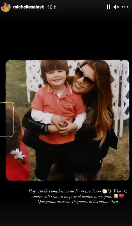 Foto Michelle Salas con Dani su hermano