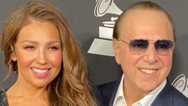 Thalía presume boda con Tommy Mottola