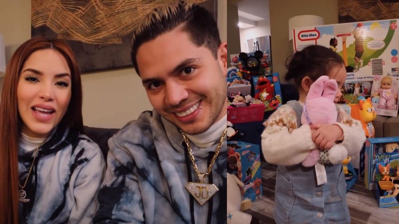 Kimberly Loaiza y Juan de Dios gastan 25 mil pesos en juguetes para su hija