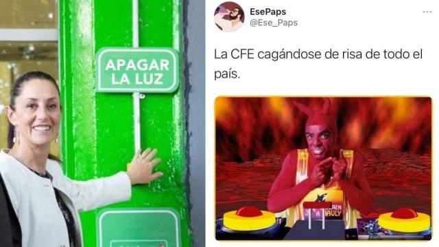 Memes de la falta de Luz en México