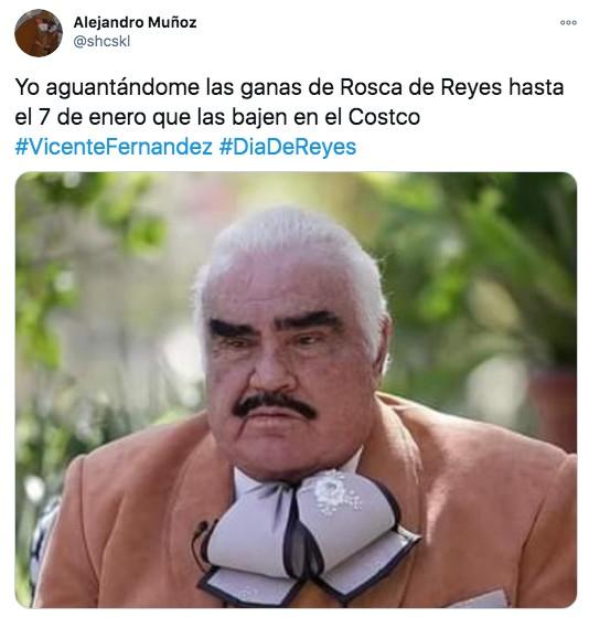 Foto vicente fernández después de la rosca