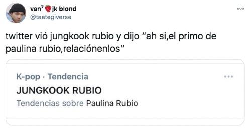 Foto confunden a Jungkook con Paiulina rubio