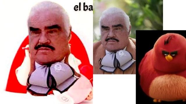 Memes de Vicente Fernández con su moño apretado