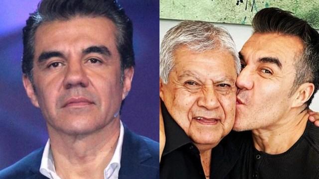 Adrián Uribe llora la muerte de su padre