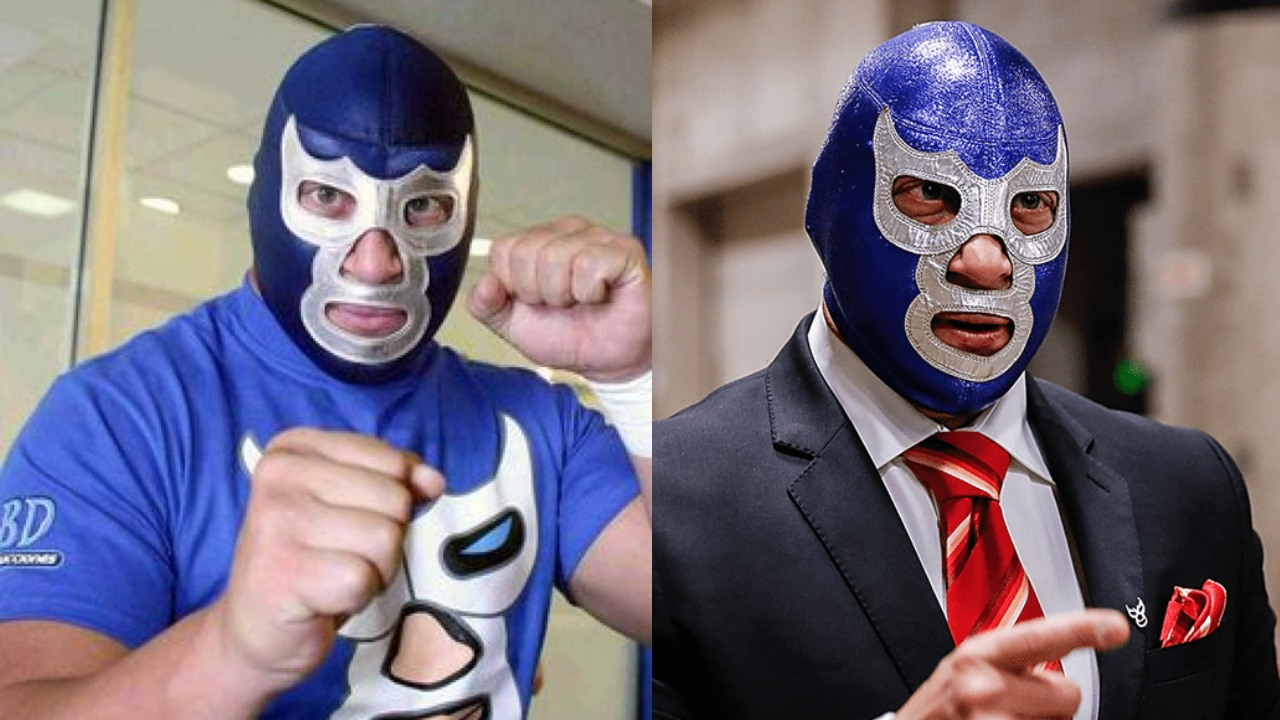 Blue Demon con traje