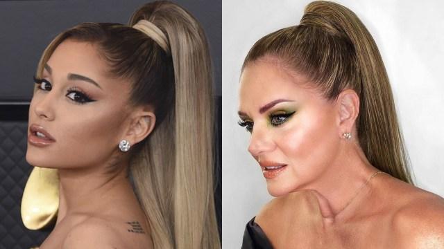 Erika Buenfil le está copiando el look a Ariana Grande y son idénticas