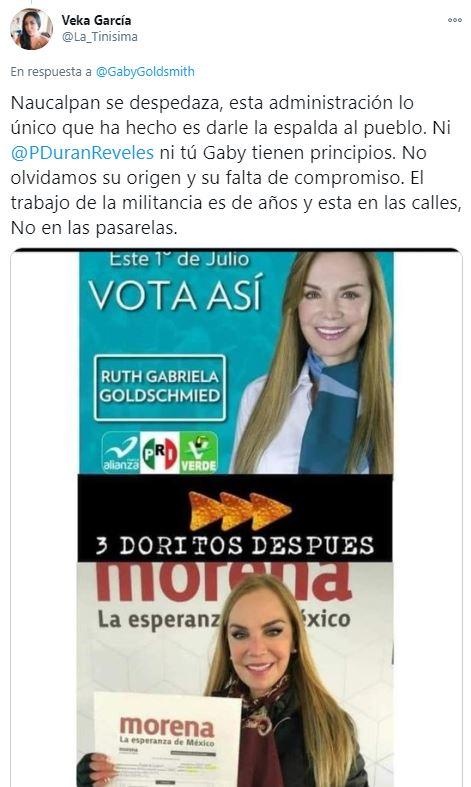 Actriz Gabriela Goldsmith se registra en Morena como precandidata para Naucalpan