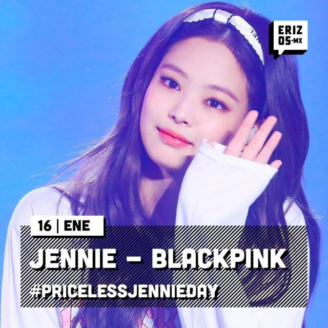 Tarjeta de cumpleaños de Jennie de BLACKPINK
